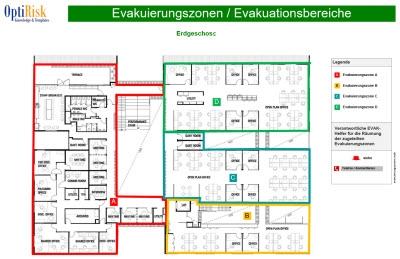 Evakuierungszonenplan / Evakuierungsbereich